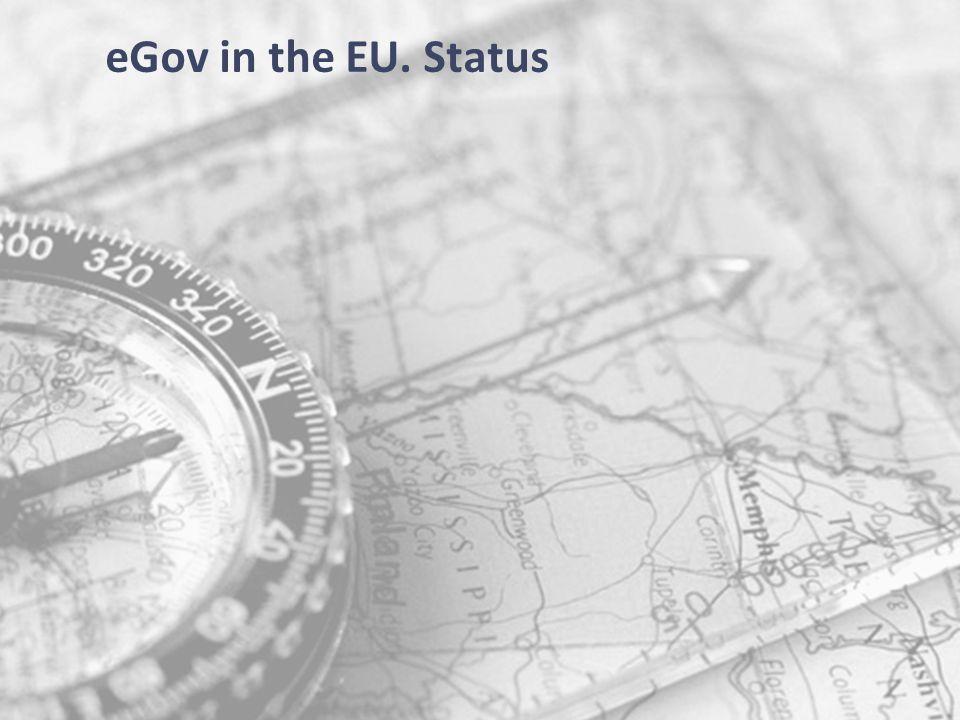 55 eGov in the EU. Status