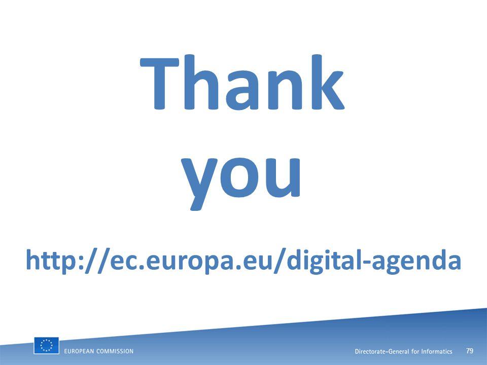 79 Thank you http://ec.europa.eu/digital-agenda