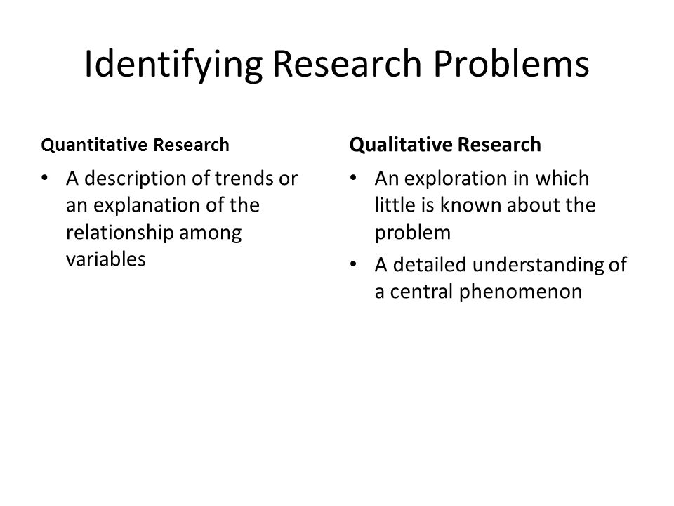 Reviewing the Literature Quantitative Research Provide major role through suggesting the research questions to be asked Justify the research problem and create a need for the direction of the study Qualitative Research Play a minor role in suggesting a specific research question to be asked Justify the importance of studying the research problem