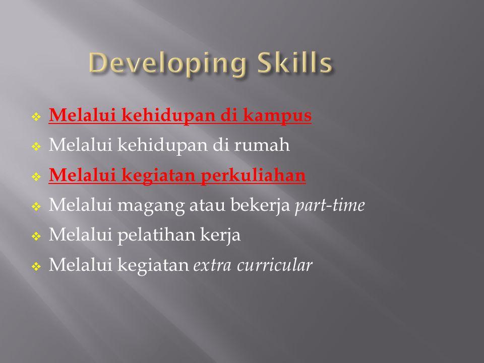 1.Managing Self 2. Communicating 3. Managing People and Tasks 4.