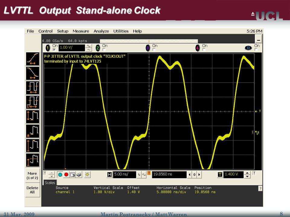 9 31 Mar. 2009Martin Postranecky / Matt Warren LVTTL – Output Clock Jitter