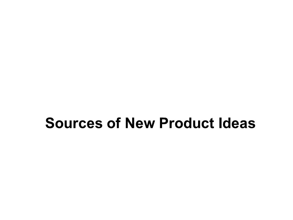Sources of New Product Ideas