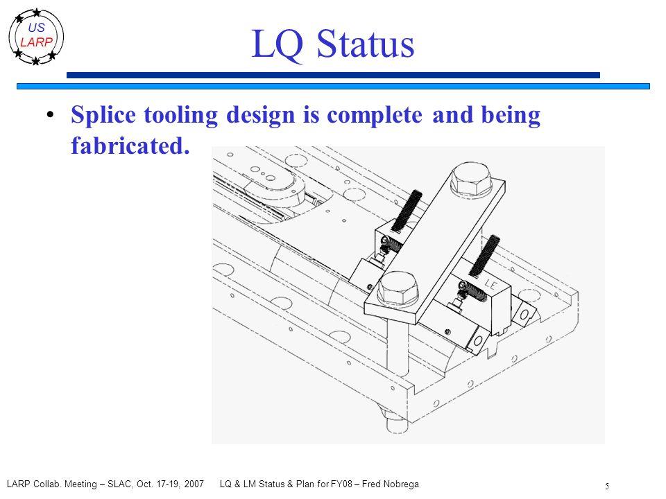 LQ & LM Status & Plan for FY08 – Fred Nobrega 5 LARP Collab.