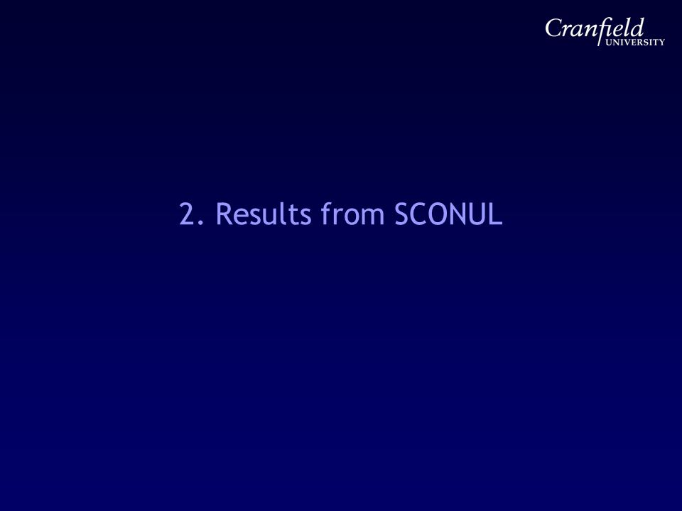 2. Results from SCONUL