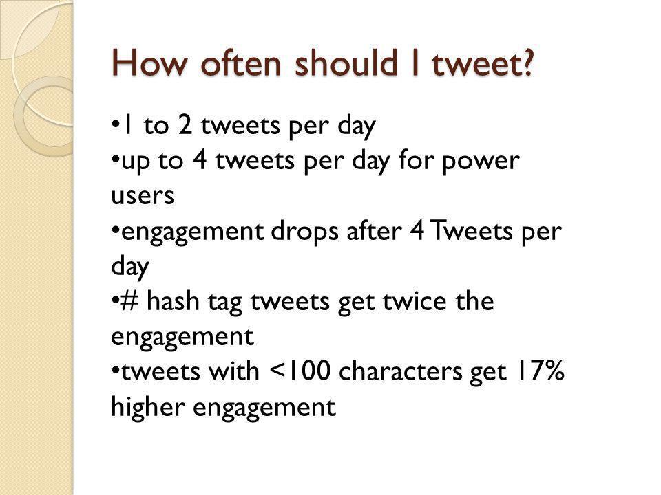How often should I tweet.