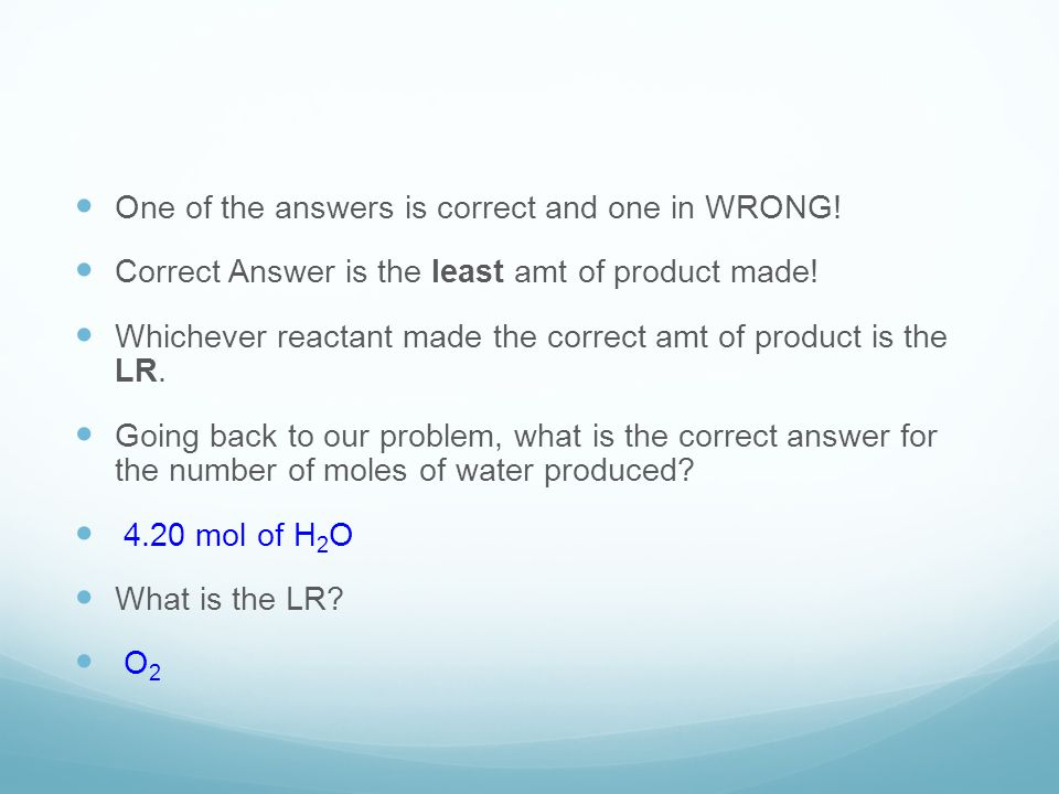 How to solve for how much Excess remains… To solve you need to see how much excess reactant is actually needed.