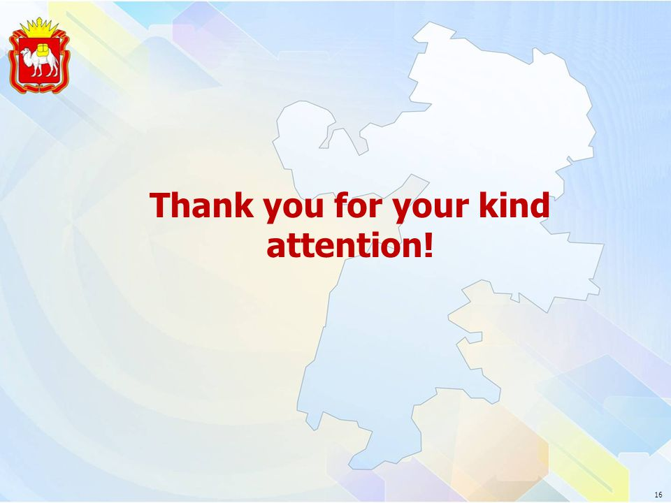 Thank you for your kind attention! 16