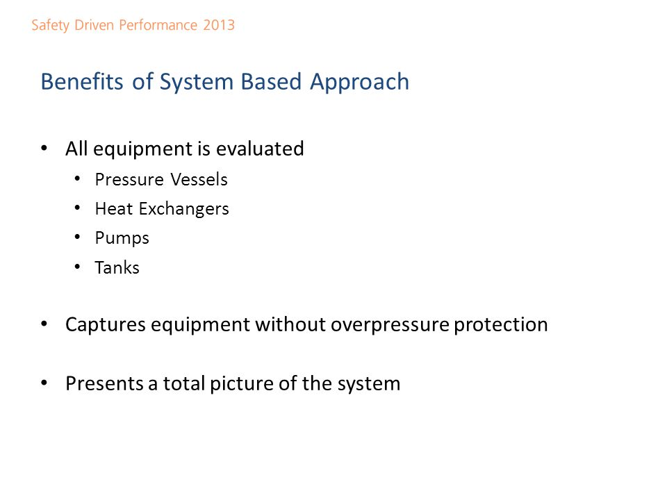 System Based Approach - Example