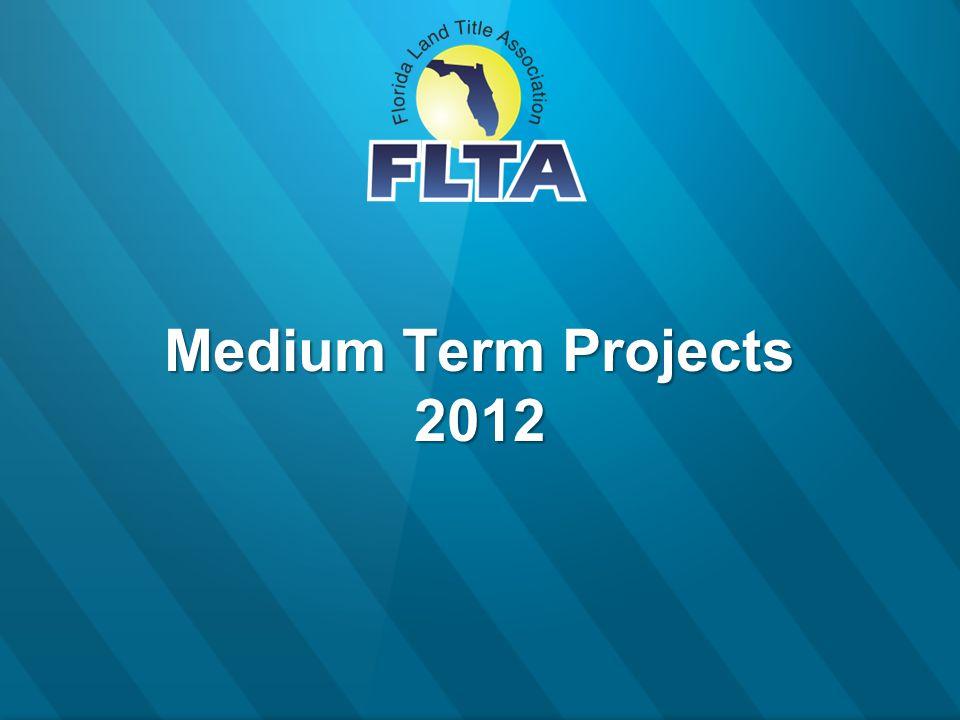 Medium Term Projects 2012