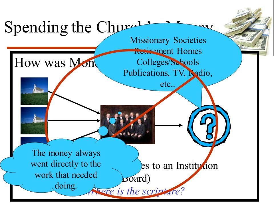 Spending the Church's Money How was Money Spent.