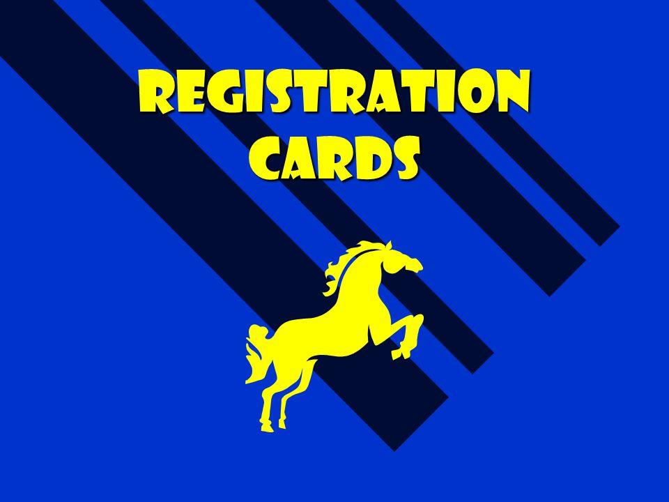 Registration cards