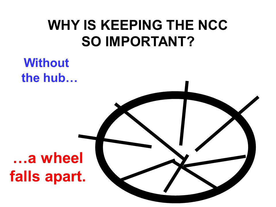 …a wheel falls apart. WHY IS KEEPING THE NCC SO IMPORTANT? Without the hub…