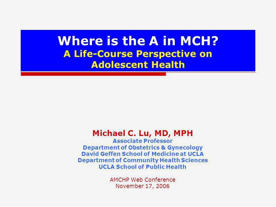Adolescent Health MCH