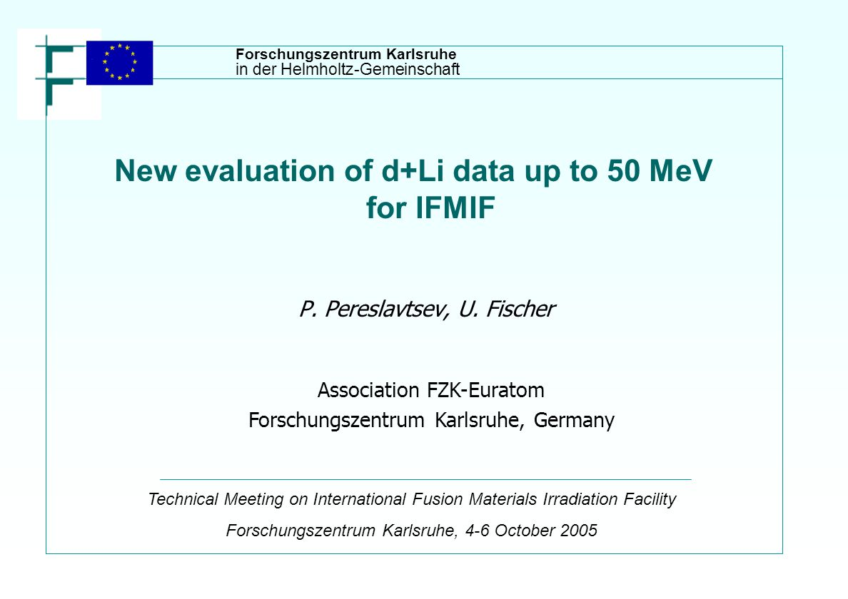 New evaluation of d+Li data up to 50 MeV for IFMIF P.