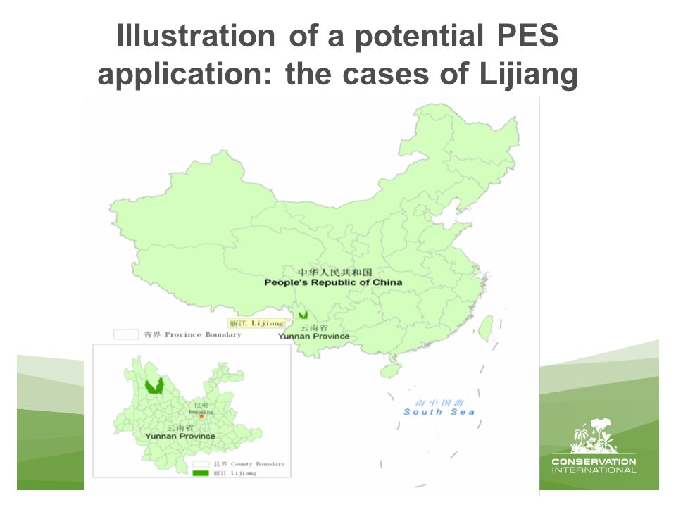 Illustration of a potential PES application: the cases of Lijiang