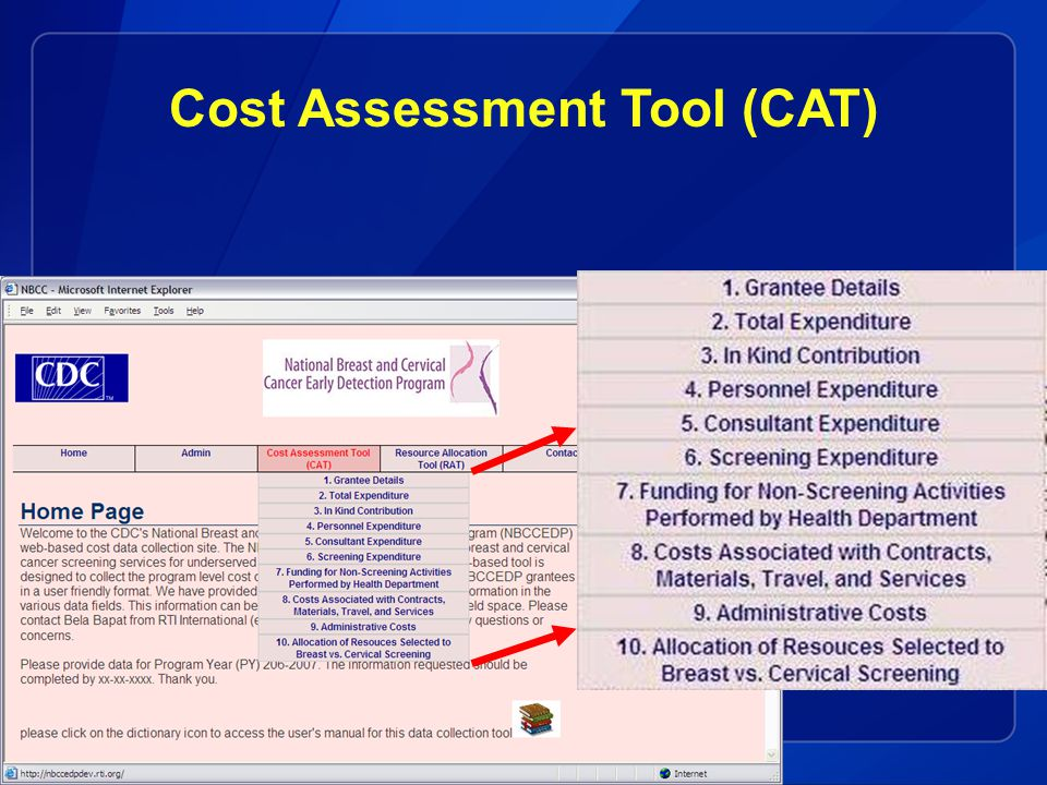 Cost Assessment Tool (CAT)