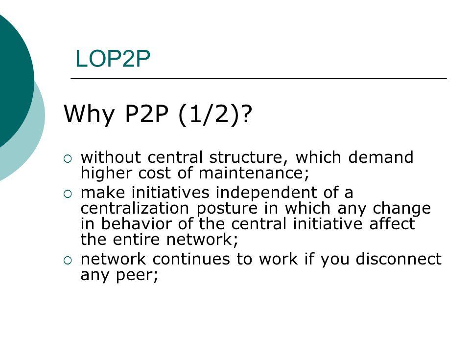 LOP2P Why P2P (1/2).