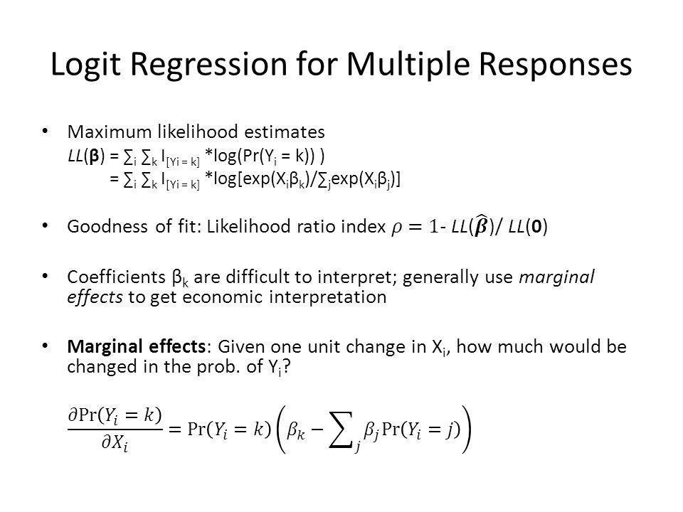 Logit Regression for Multiple Responses