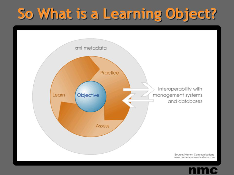 So What is a Learning Object nmc