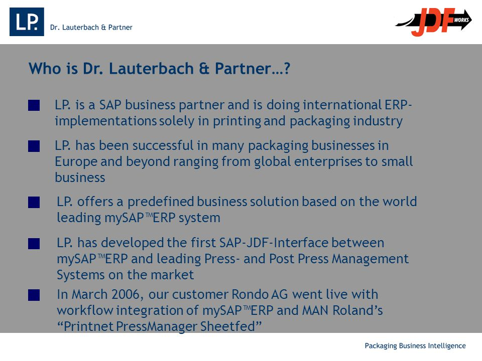 Who is Dr. Lauterbach & Partner…. LP.