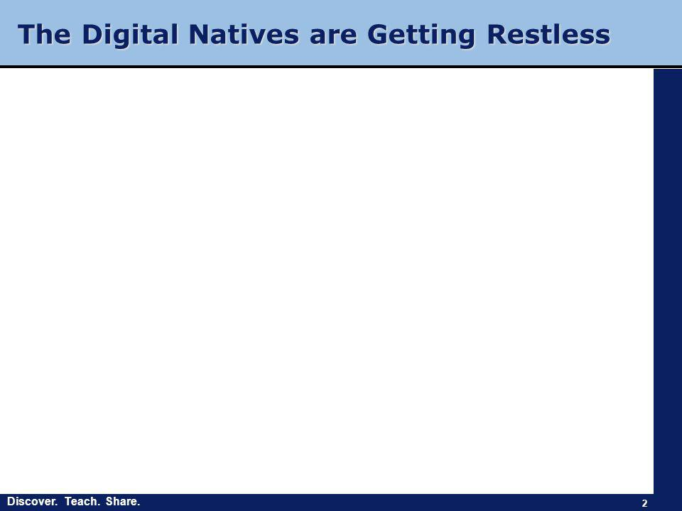 Discover. Teach. Share. The Digital Natives are Getting Restless 2