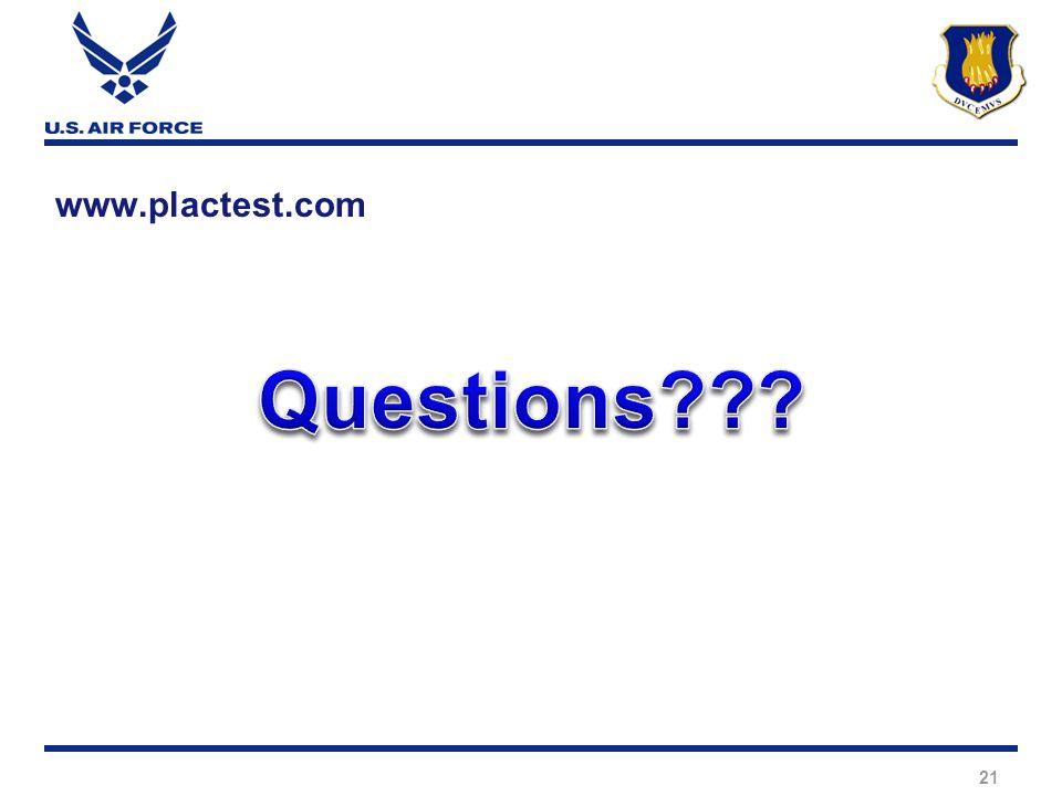 21 www.plactest.com