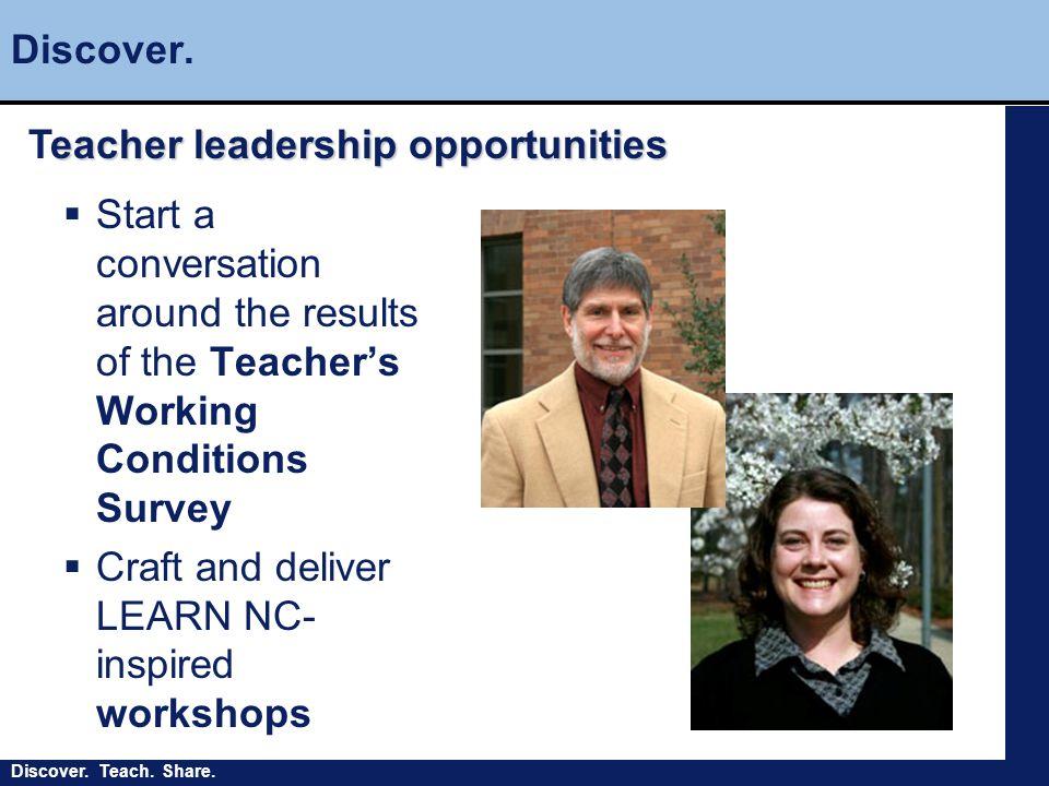 Discover. Teach. Share. Discover.
