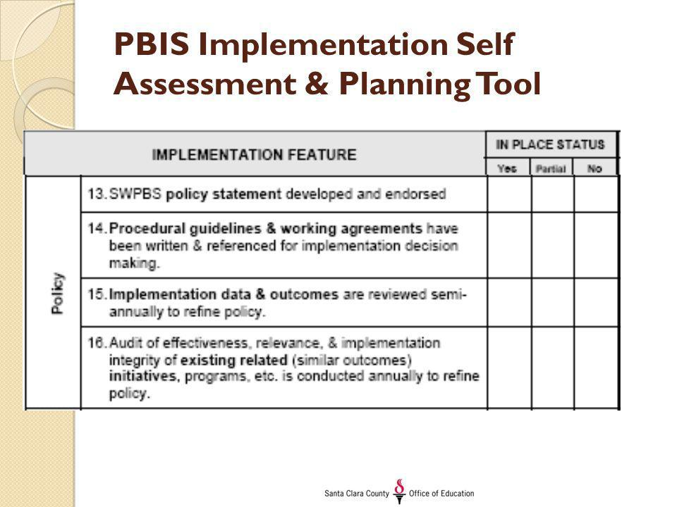 PBIS Implementation Self Assessment & Planning Tool