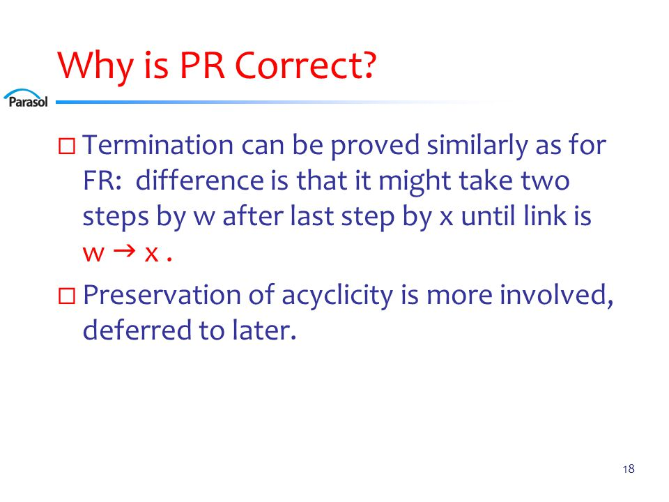 Why is PR Correct.