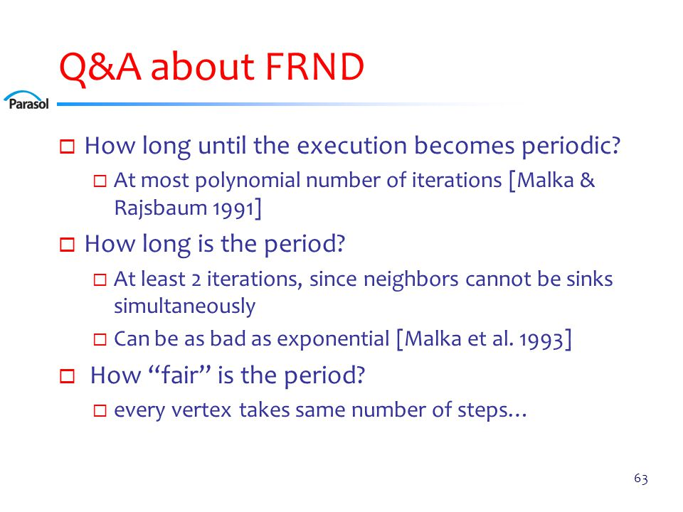 Q&A about FRND  How long until the execution becomes periodic.