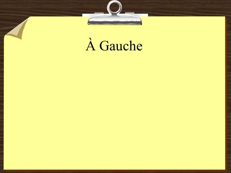 À Gauche