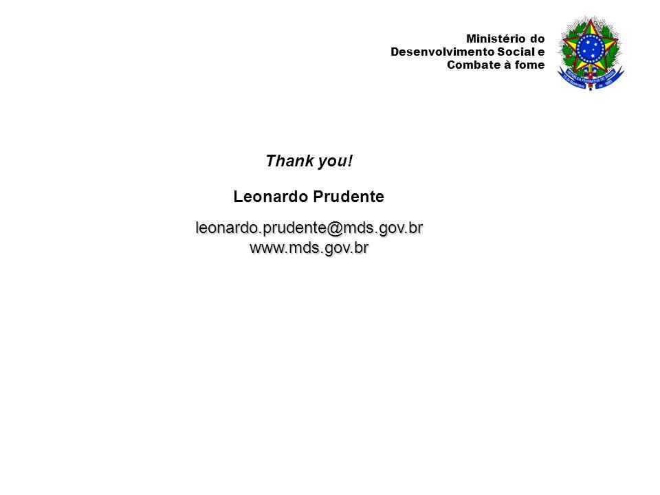 Ministério do Desenvolvimento Social e Combate à fome Thank you.