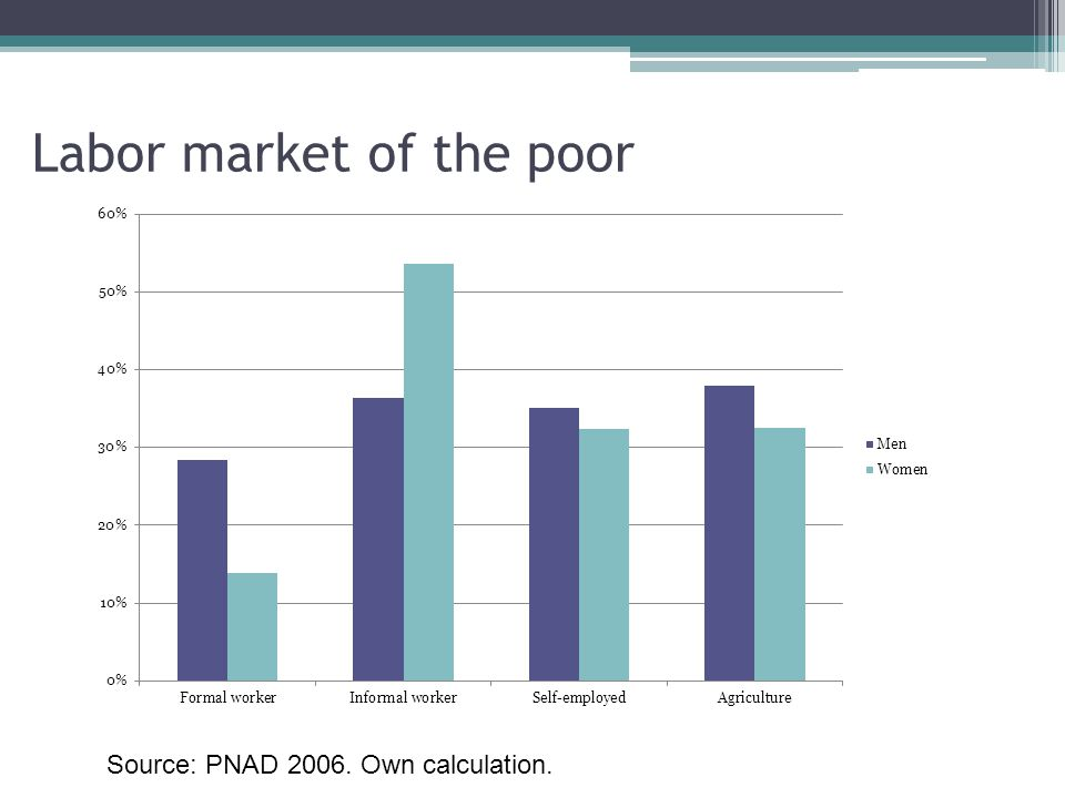 Labor market of the poor Source: PNAD 2006. Own calculation.