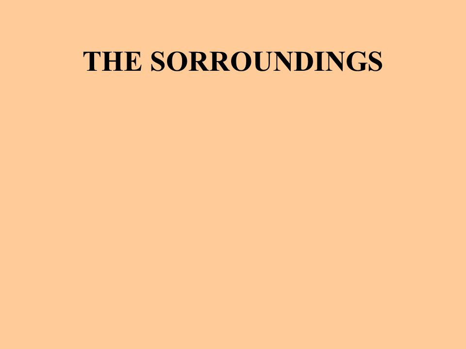 THE SORROUNDINGS