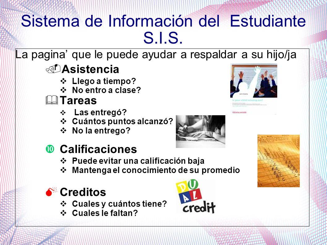 Sistema de Información del Estudiante S.I.S.