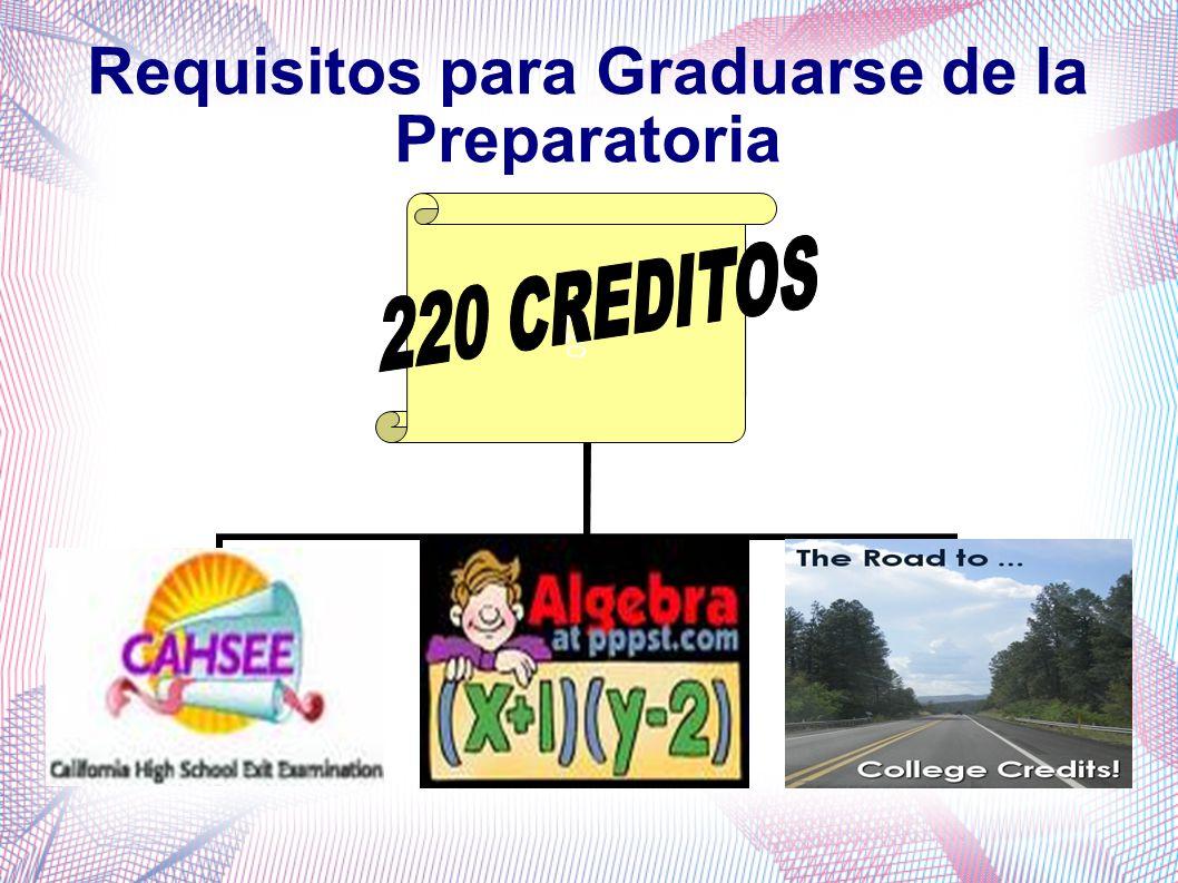 Requisitos para Graduarse de la Preparatoria  220