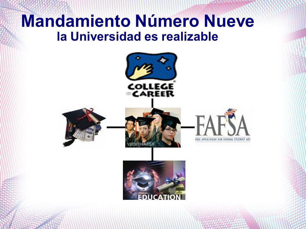 Mandamiento Número Nueve la Universidad es realizable