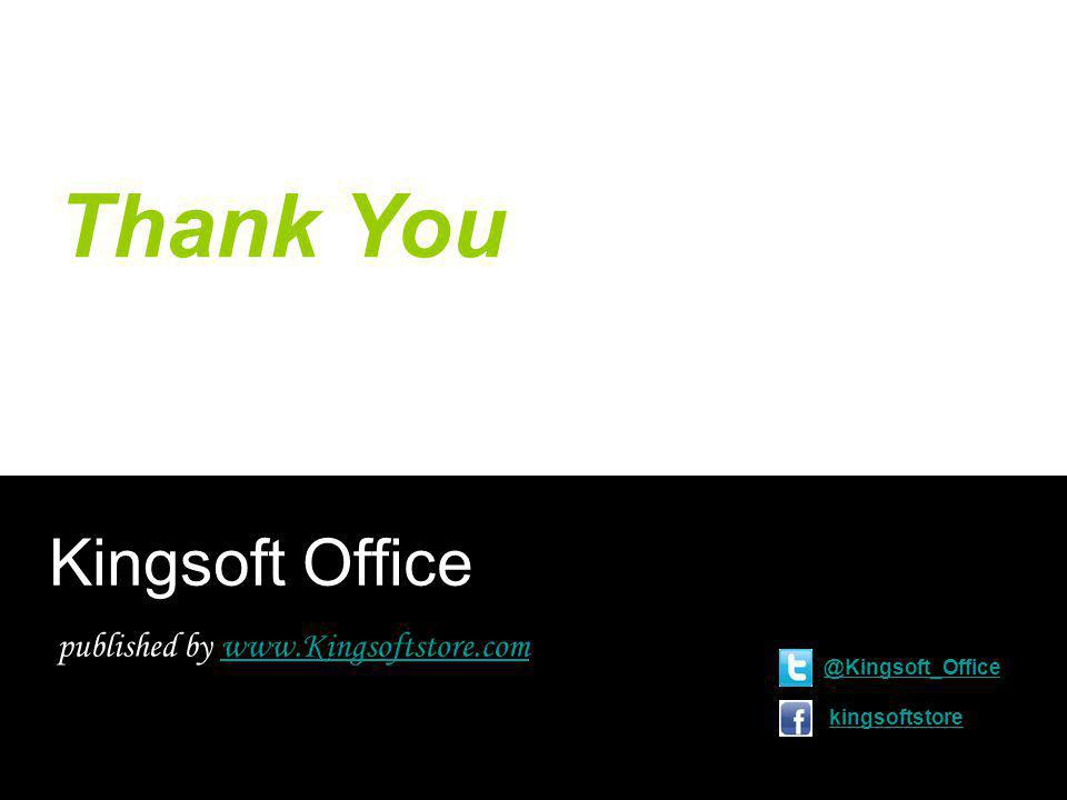 Thank You Kingsoft Office published by kingsoftstore