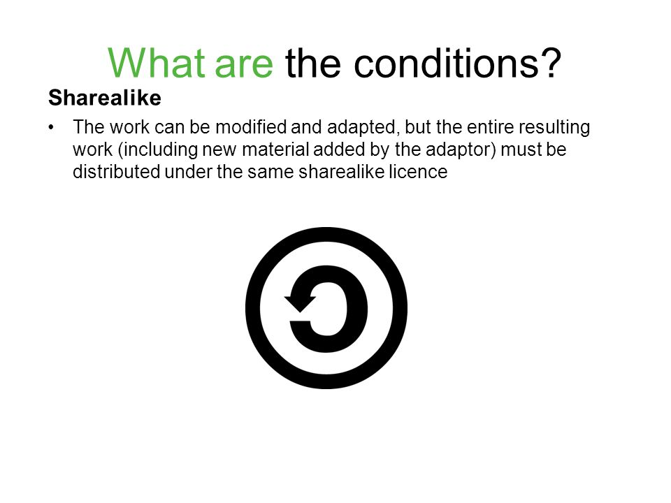What are the conditions.
