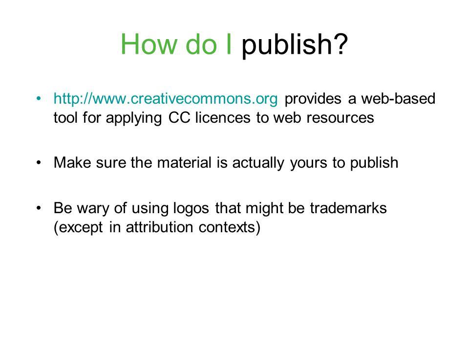 How do I publish.