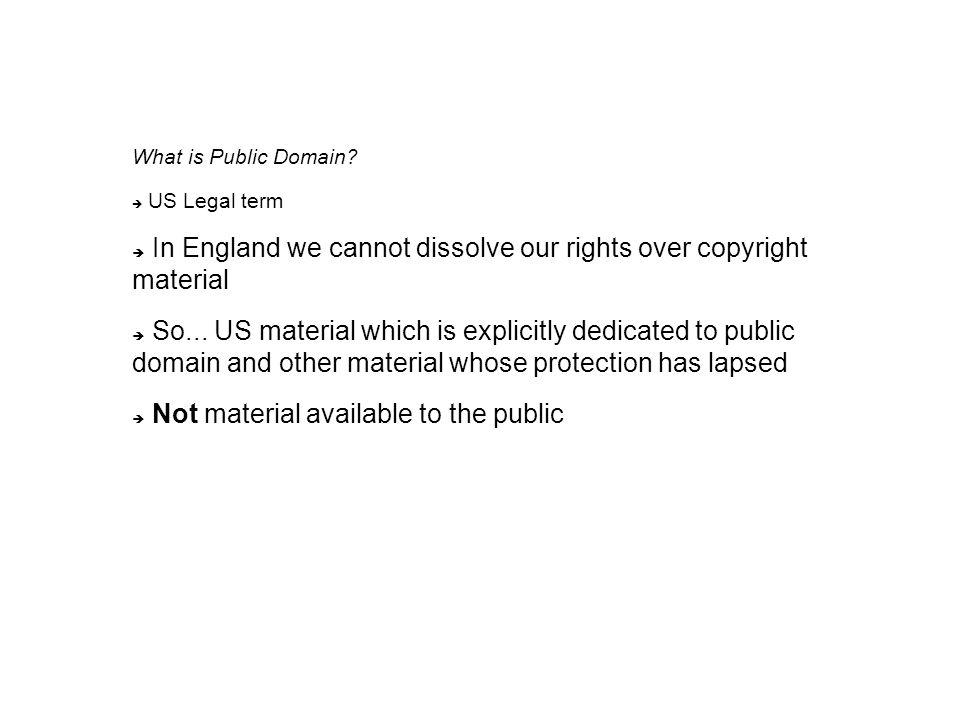 What is Public Domain.