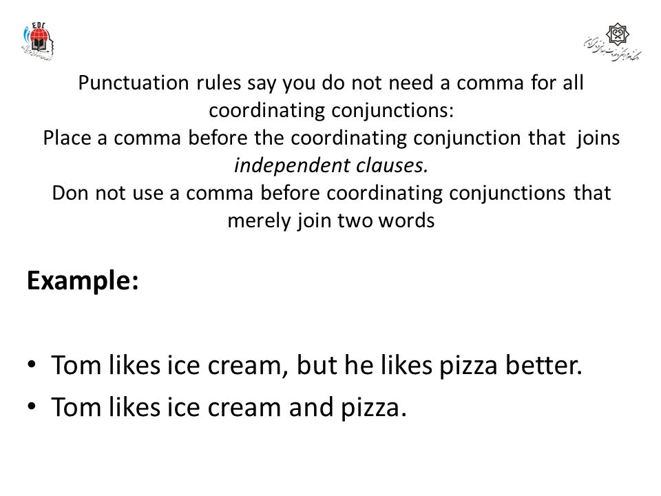 Punctuation rules say you do not need a comma for all coordinating conjunctions: Place a comma before the coordinating conjunction that joins independ