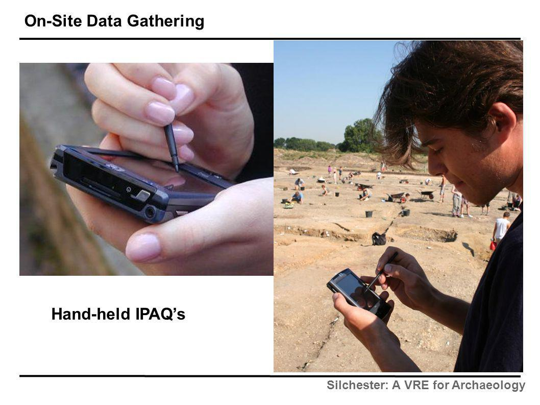 Silchester: A VRE for Archaeology On-Site Data Gathering Hand-held IPAQ's