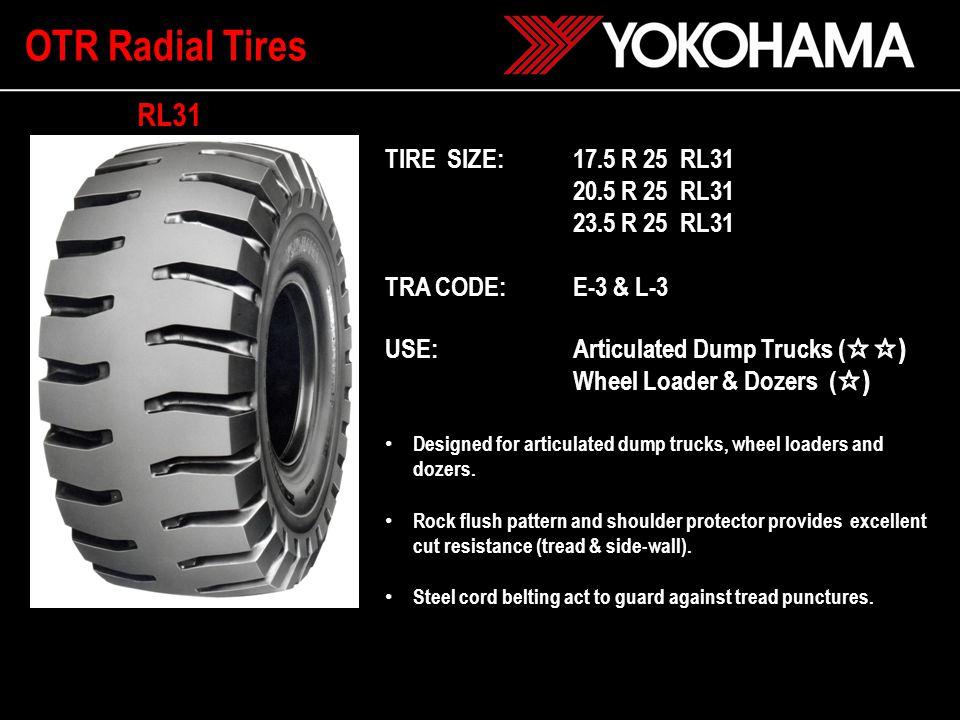 Tire SizePattern Star Marking Type TRA Code Rim Size Max.