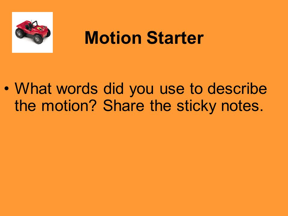 TRY THIS! Is your desk in motion? From the reference point of your seat is you desk in motion? NO!