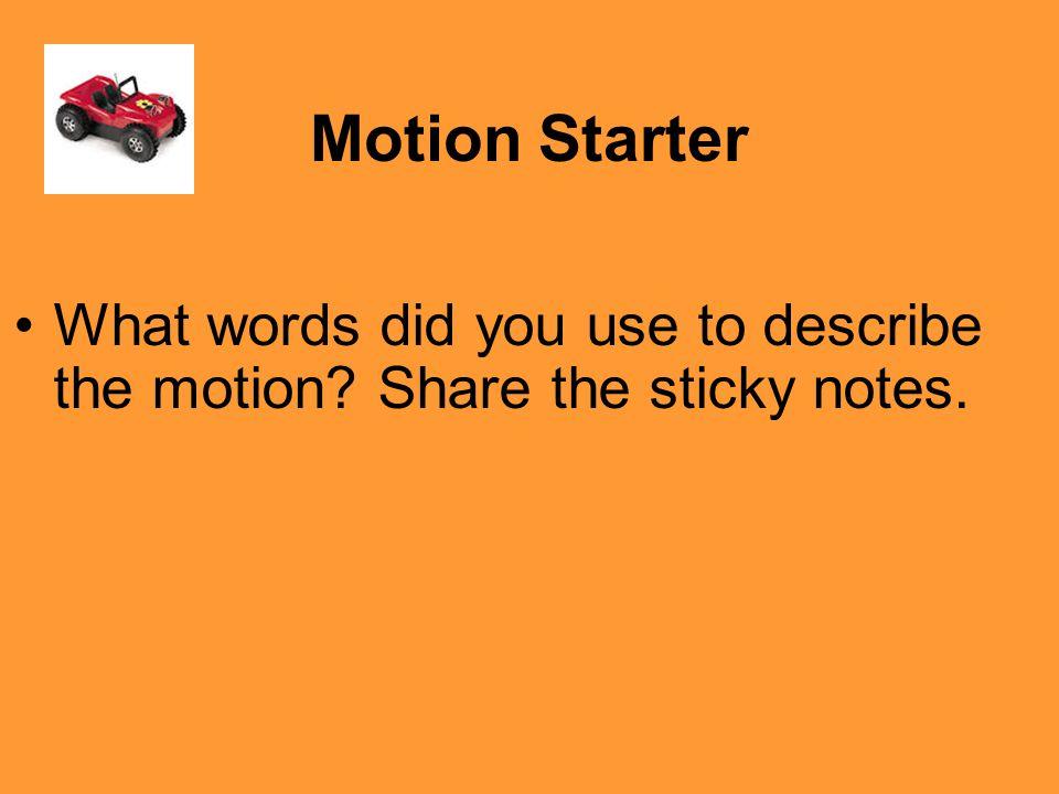 Let's practice Speed & Velocity (homework on 9/4)