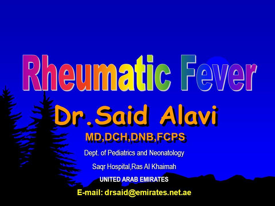 05/05/1999Dr.Said Alavi32 References  Hoffman JIE: Rheumatic Fever.