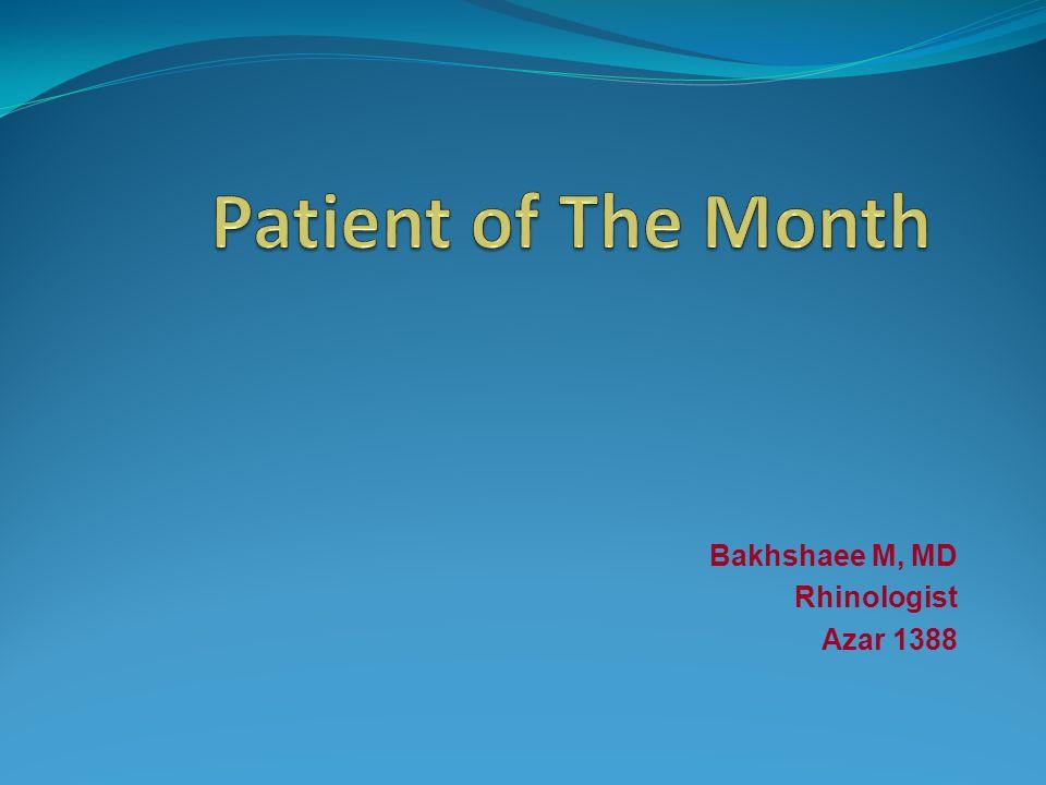 Bakhshaee M, MD Rhinologist Azar 1388