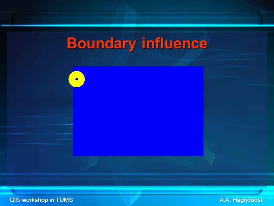 GIS workshop in TUMS Boundaryinfluence Boundary influence