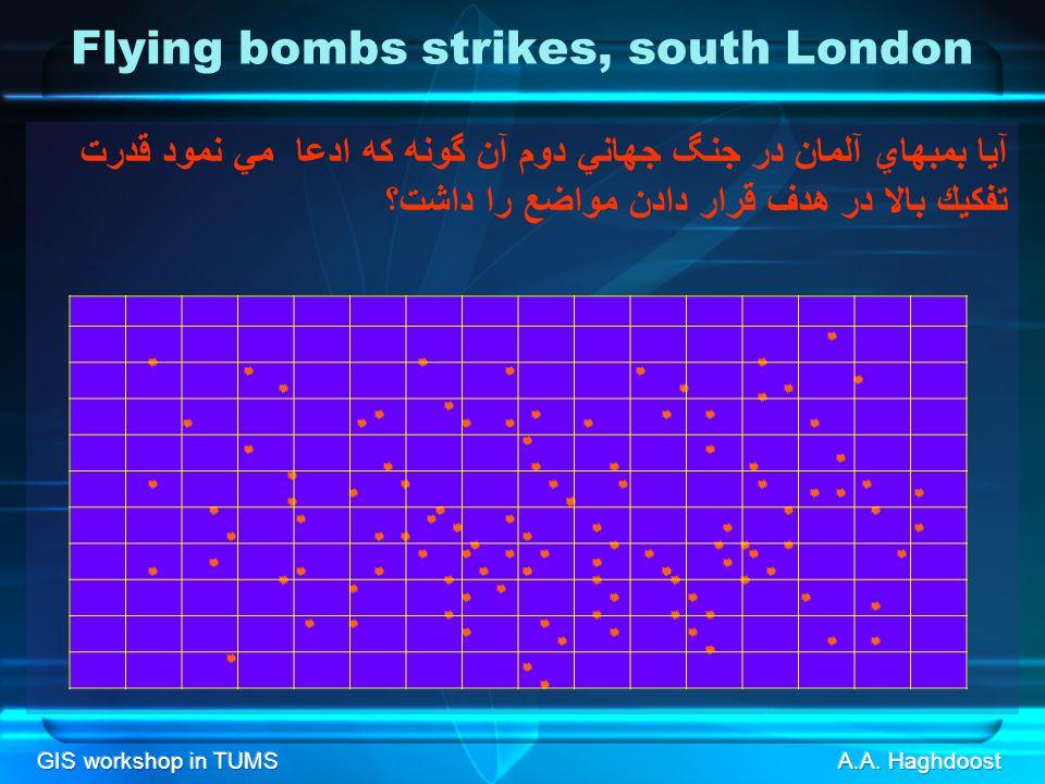 GIS workshop in TUMS Flying bombs strikes, south London آيا بمبهاي آلمان در جنگ جهاني دوم آن گونه كه ادعا مي نمود قدرت تفكيك بالا در هدف قرار دادن مواضع را داشت؟